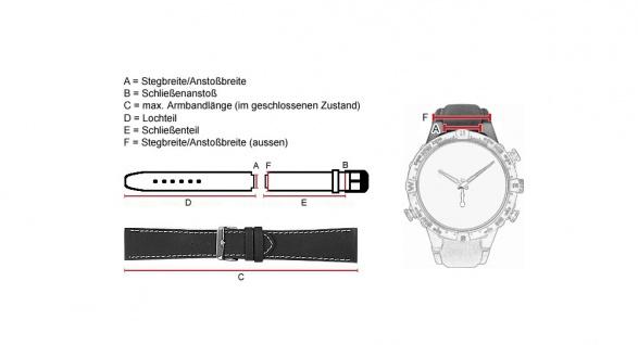 Uhrenarmband Leder Band braun für Timberland 12526G, 95020G - 28114 - Vorschau 3