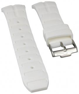 Jacques Lemans Uhrenarmband Silikon Band weiß für Powerchrono 1-1757B 1-1757