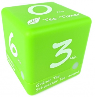 TFA Kurzeitmesser Cube Timer 3 - 4 - 5 - 6 Minuten grün Würfel Teetimer