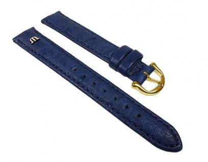 Maurice Lacroix Uhrenarmband Straußenleder Band Blau 22628G