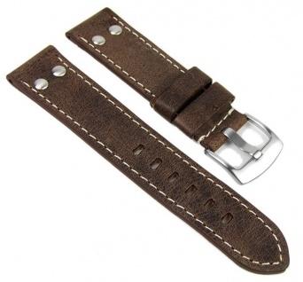 Uhrenarmband Vintage Look Leder Band 22mm