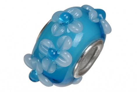 Charlot Borgen Marken Damen Bead Beads Drops Kristallglas Silberkern GPS-39Türkis