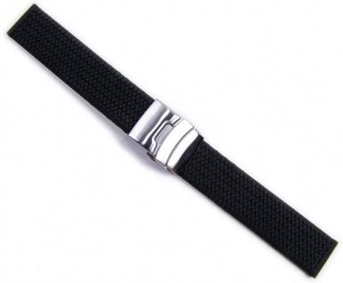 Minott Rubber Sport Uhrenarmband Silikon Band schwarz Wasserfest 20977S