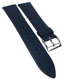Junghans Chronoscope Herren Ersatzband 21mm Leder blau 041/4775