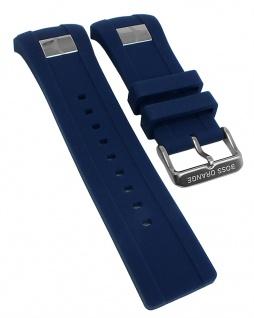 Hugo Boss Ersatzband 24mm Spezial Anstoß Kunststoff blau 1512810 1512814