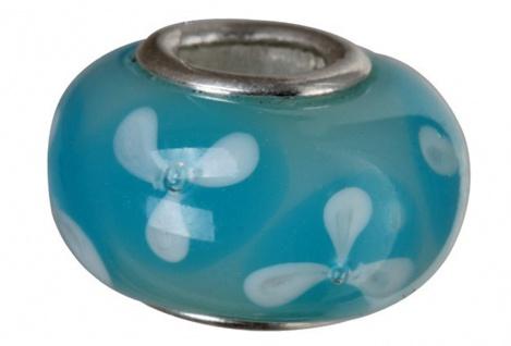 Charlot Borgen Marken Damen Bead Beads Drops Kristallglas Silberkern GPS-62Türkis