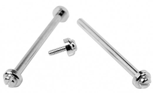 Minott Schrauben | 2x Ersatzschrauben Ø 1, 35mm aus Edelstahl für Mittelbänder in silberfarben 32751