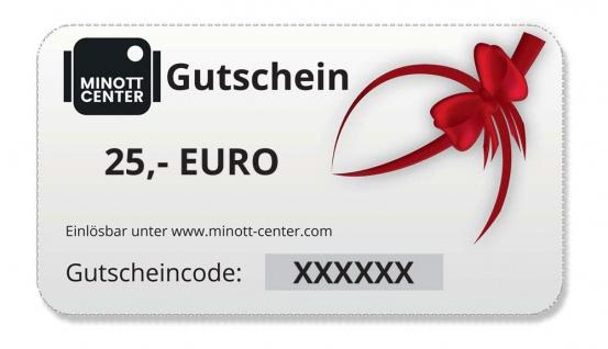 Minott Center   Geschenk-Gutschein im Wert von 25 Euro