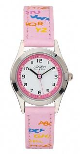 Adora Young Line   analoge Quarz Armbanduhr aus Edelstahl mit rosa Kunststoffband   36118