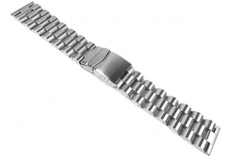 Minott Uhrenarmband Edelstahl Band - Massiv mit Sicherheitsfaltschließe 24317