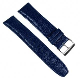 Casio Uhrenarmband Leder Band Blau 22mm für WVQ-560LE WVQ-560