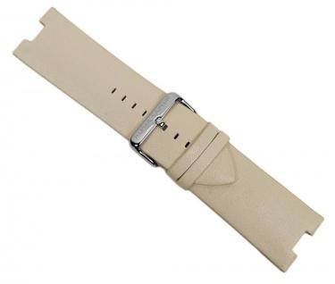 Alpha Saphir Uhrenarmband Leder Creme für AS 298D