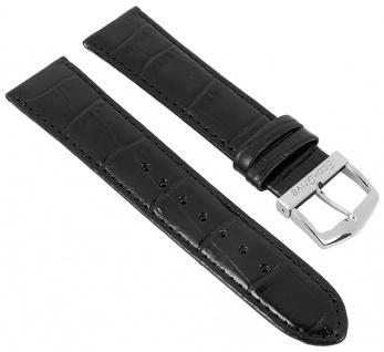 Citizen Elegant | Uhrenarmband Leder Band 20mm schwarz mit Krokoprägung für BM8241