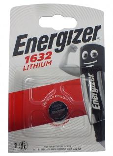 1 x Energizer CR1632 Batterie Knopfzelle Lithium 3 Volts für Armbanduhren
