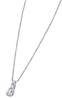 Lotus Silver Halsschmuck Collier Kette mit Anhänger und Zirkonia Silber LP1289-1/1