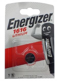 1 x Energizer CR1616 Batterie Knopfzelle Lithium 3 Volts für Armbanduhren
