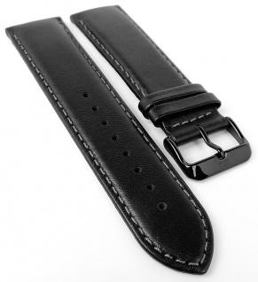Tommy Hilfiger Ersatzband 23mm Uhrenarmband Leder Band schwarz mit Naht 1710295