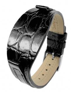 Betty Barclay Moonlight Shadow | Ersatzband Unterlagenband 9mm - Leder - Straußenprägung, schwarz für Armbanduhr BB066.00.301.161