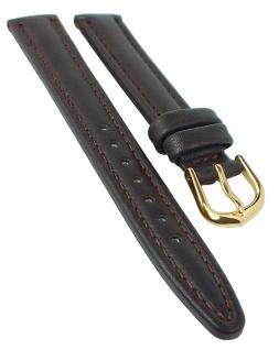 Eichmüller Leder Ersatzband   Uhrenarmband   dunkelbraun mit Naht, gepolstert