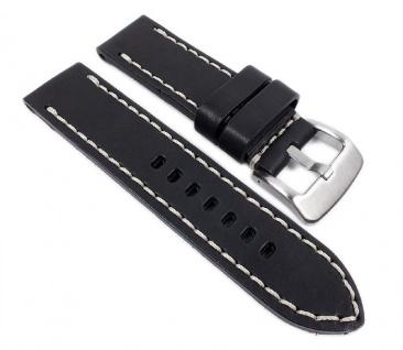 Aeronautica Uhrenarmband Fliegerband Optik Leder schwarz 26mm