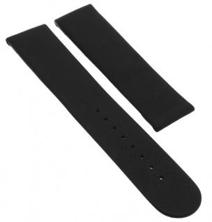 Junghans Funk Berlin Ersatzband 22mm Leder glatt schwarz ohne Schließe 011/1301