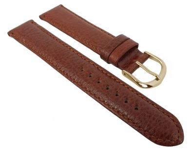 Herzog Uhrenarmband Kalbleder Denver | Ersatzband braun 29107
