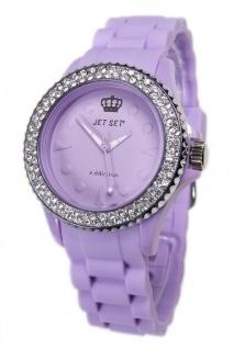 JET SET Addiction Soothing Purple Damen Armbanduhr mit Kristallen Silikonband J18934-08