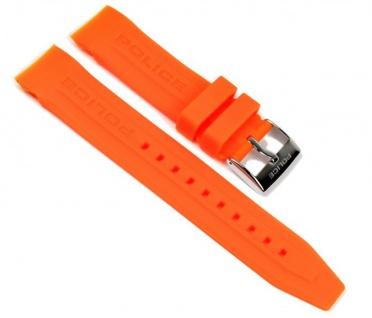 Police Cyber Marken Uhrenarmband Kautschuk Orange für Herrenuhr P12898JS-02I