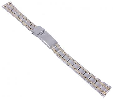 Minott Ersatzband aus Edelstahl bicolor hochglanz mit Faltschließe 14mm 30613Bi