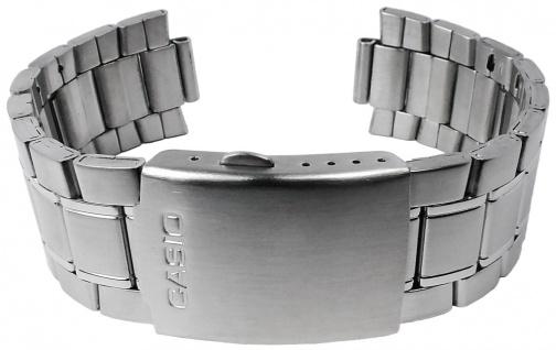 Casio Armband | Uhrenarmband Edelstahl Band Silberfarben für MDV-104D XL-länge