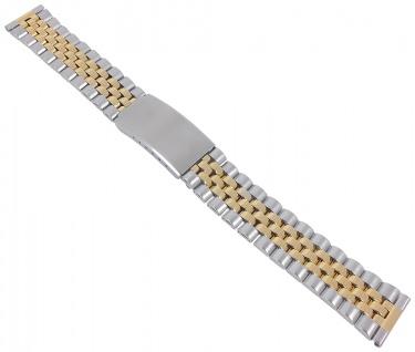 Minott Ersatzband aus Edelstahl, bicolor mit Faltschließe - 18mm 30625Bi