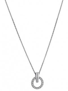 Lotus Silver Pure Essential Halsschmuck Kette mit Anhänger Ring Zirkonia LP1523-1/1