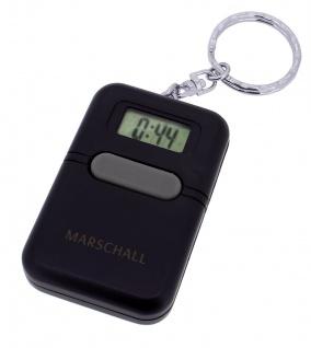 Marschall Sprechender Wecker Alarm Digital Kunststoff Schlüsselanhänger schwarz Talking Clock 34734