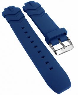 Calypso Ersatzband blau Kautschuk Band Dornschließe K5766/1 K5766