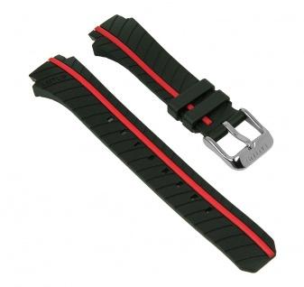 Lotus Watches Ersatzband Uhrenarmband Kunststoff Band schwarz/rot L18106/1 L18106 für Damenuhren