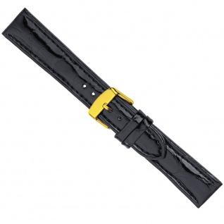 Uhrenarmband Ersatzband Leder Band Schwarz 26577G