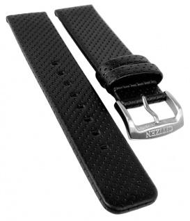 Citizen Eco Drive | Uhrenarmband Leder Band 20mm schwarz mit Lochmuster AW0010-01A