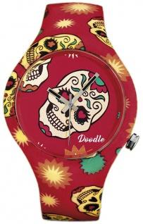 DOODLE WATCH :) Armbanduhr für SIE Ø 39mm | Silikon > Red Skull > DOCA001