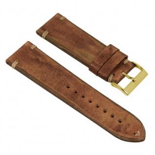 Vintage Uhrenarmband Argentinisches Rindsleder Band Rost 26258G