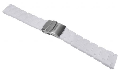 Morellato Iseo Uhrenarmband Silikon Band Weiß mit Faltschließe 24604S