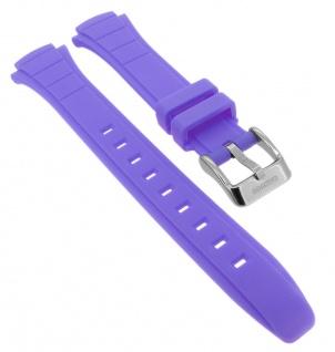 Calypso Ersatzband aus Kunststoff in lila mit Schließe silberfarben Spezial Anstoß K5756/7