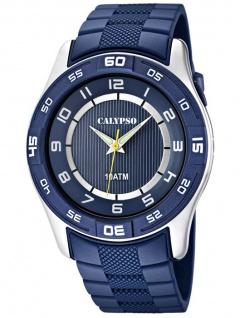 Calypso analog Herren Armbanduhr blau 10 ATM mit Leuchtzeigern K6062/2