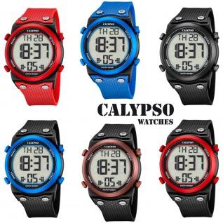 Calypso Herrenarmbanduhr Quarzuhr Kunststoffuhr mit Polyurethanband Alarm-Chronograph digital alle Modelle K5705
