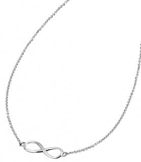 Lotus Silver Halsschmuck Collier Kette mit Unendlichkeit Anhänger Silber LP1224-1/2