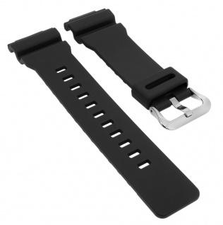 Casio G- Shock Ersatzband schwarz Resin Band Schließe silberfarben GA-800-1A > GA-800
