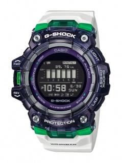 Casio G-Shock Herren Armbanduhr weiß Training Planner Stoßfest GBD-100SM-1A7ER