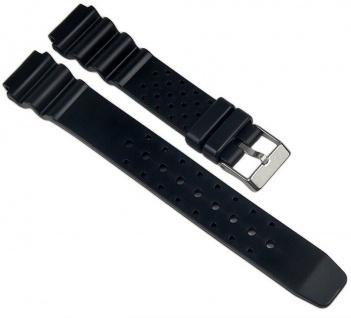 Minott Uhrenarmband PU Band schwarz 18mm