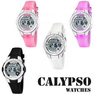 Calypso Damenarmbanduhr Quarzuhr Kunststoffuhr mit Polyurethanband Alarm-Chronograph digital alle Modelle K5571
