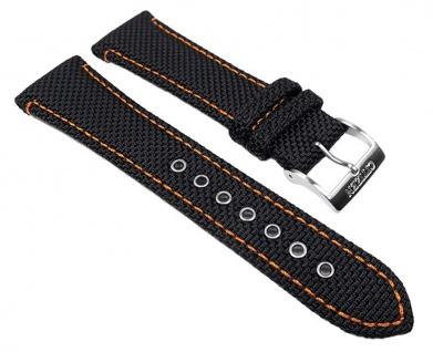 Citizen Ersatzband Textil / Leder schwarz / orange 22mm BM6686 AT0600 AT0607