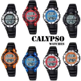 Calypso Damenarmbanduhr Quarz Kunststoff Polyurethanband Alarm digital K5684